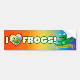 I wacky Autoaufkleber des Liebe-Froschspaßes