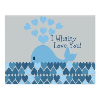 I Whaley Liebe Sie! Blau Postkarte