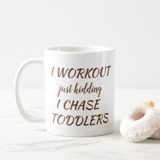 I Workout, der gerade Parenting-Tasse scherzt Kaffeetasse