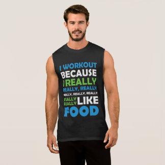 I Workout - wirklich Liebe-Nahrung Ärmelloses Shirt