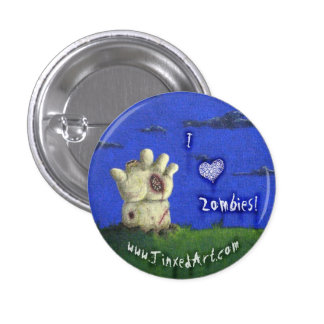 ♥ I Zombies! Knopf Runder Button 2,5 Cm