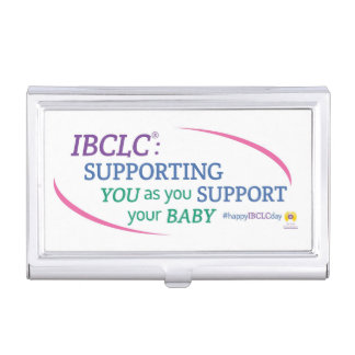 IBCLC® TagesVisitenkarte-Halter (englisch) Visitenkarten-Halter