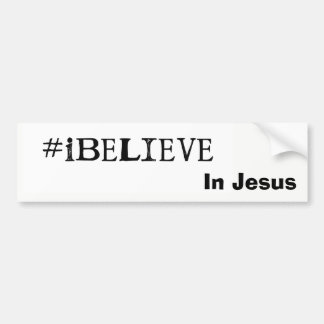 #iBelieve in Jesus-Autoaufkleber Autoaufkleber