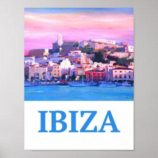 Ibiza Eivissia Spanien Retro Plakat