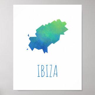 Ibiza Karte Poster