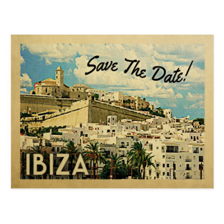 Ibiza Save the Date Vintages Spanien Postkarte