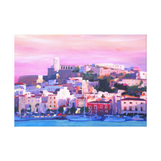 Ibiza Spanien am Sonnenuntergang Leinwanddruck