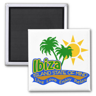 Ibiza Staat des Sinnesmagneten Quadratischer Magnet