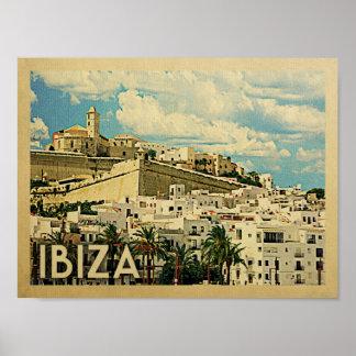 Ibiza Vintages Reise-Plakat Poster