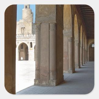 Ibn Tulun Moschee Kairo Quadratischer Aufkleber