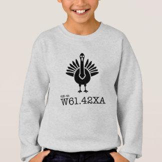 ICD-10: W61.42XA - Geschlagen durch die Türkei Sweatshirt