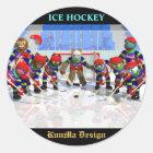 Ice hockey runder aufkleber