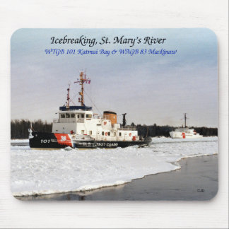 Icebreaking St Mary Fluss mousepad