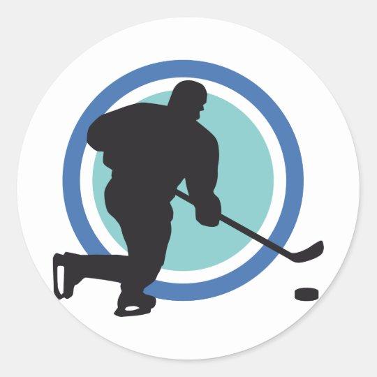 icehockey runder aufkleber