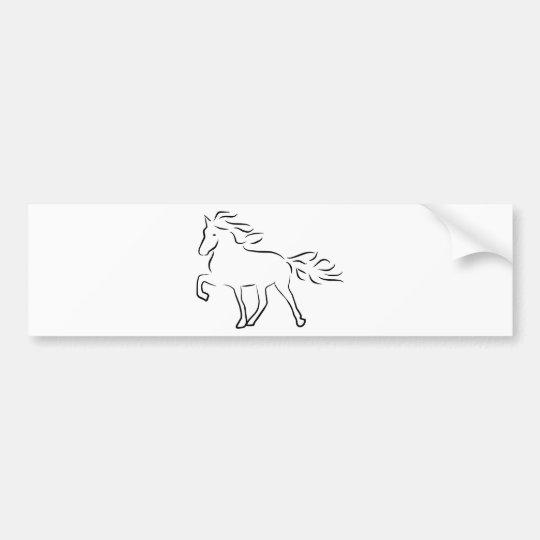 iceland horse autoaufkleber