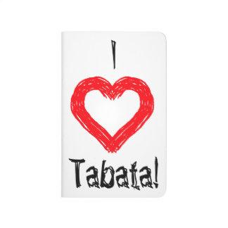 """""""Ich <3 Tabata"""" Taschen-Trainings-Zeitschrift Taschennotizbuch"""