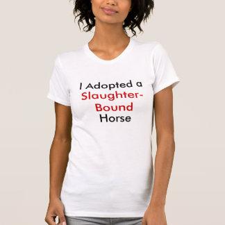 Ich adoptierte ein Gemetzel-Gehendes Pferd T-Shirt