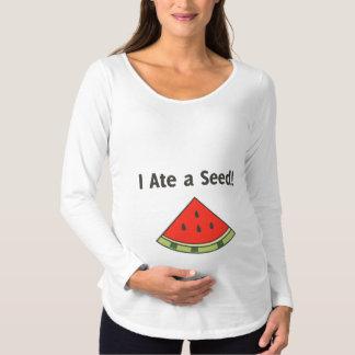 Ich aß eine Samen-Schwangerschaft Schwangerschafts T-Shirt