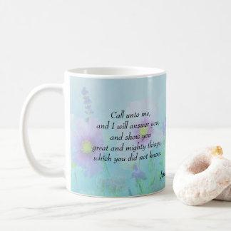 Ich beantworte Sie - Jeremias-33:3 Kaffeetasse