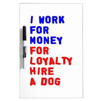 Ich bearbeite für Geld für Loyalitäts-Miete einen Trockenlöschtafel