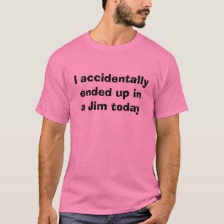 Ich beendete versehentlich oben in einem T - Shirt