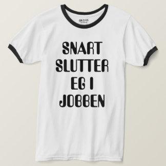 Ich beendige bald mein norwegisches Weiß des Jobs T-Shirt