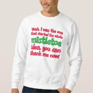 Ich begann das ganze Mistelzweig-Ideen-lustige Sweatshirt