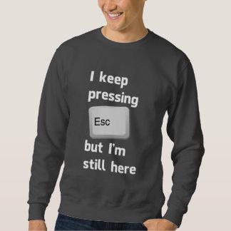 Ich behalte das Drücken des Taste- ESC, aber ich Sweatshirt
