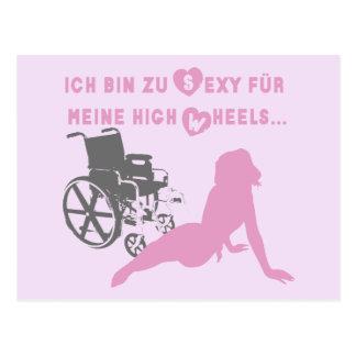 Ich Behälter zu sexy für meine hohe Räder… Postkarten