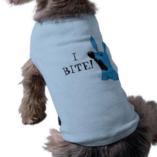 ICH BEISSE! Hundeshirt! Ärmelfreies Hunde-Shirt