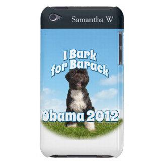 Ich belle für Barack, BO der erste Hund Obama iPod Touch Case