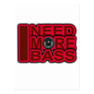 ICH BENÖTIGE Bass-Dubstep-DnB-DJ-Angesagteren Postkarte