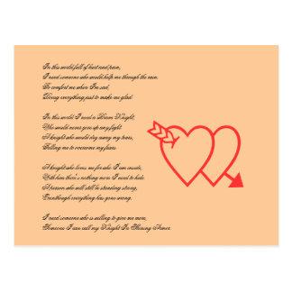 Ich Benu0026#246;tige Ein Ritter Valentinstag Liebegedicht Postkarte