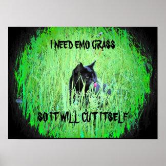 Ich benötige emo Gras Posterdrucke
