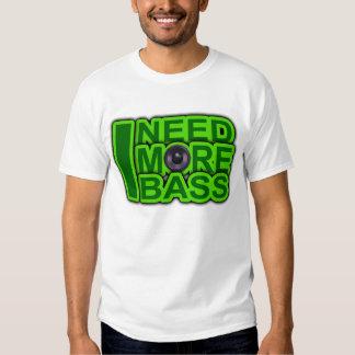 ICH BENÖTIGE MEHR BASS-Grün - T-Shirts