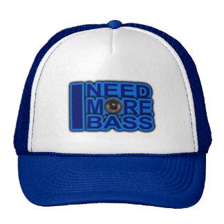ICH BENÖTIGE MEHR blauen Dubstep-dnb-Bass-Verein-D Baseballmütze