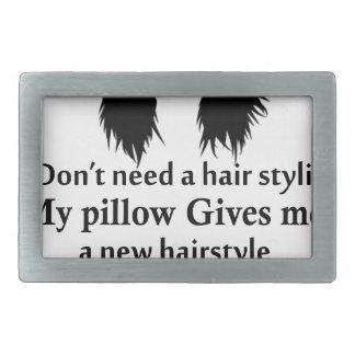 Ich benötige nicht einen Haar-Stylisten, mein Rechteckige Gürtelschnalle