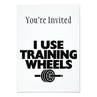 Ich benutze Trainings-Räder