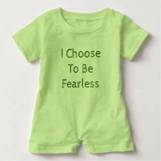Ich beschließe, furchtloser grüner Spielanzug zu Baby Strampler
