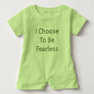 Ich beschließe, furchtloses Spielanzug-Grün zu Baby Strampler