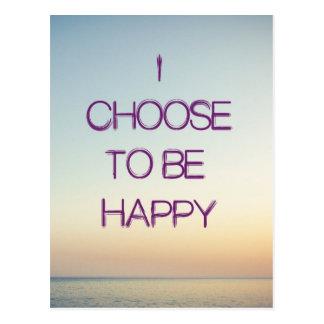 Ich beschließe, glückliche Postkarte zu sein