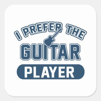 Ich bevorzuge den Gitarristen Quadratischer Aufkleber