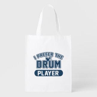 Ich bevorzuge den Trommel-Spieler Wiederverwendbare Einkaufstasche