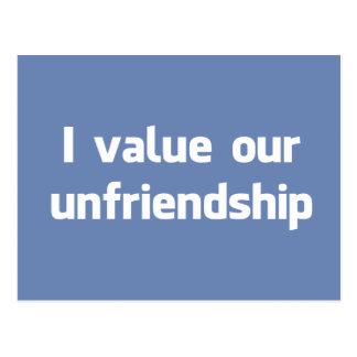 Ich bewerte unser unfriendship postkarte