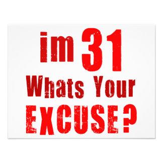 Ich bin 31, was bin Ihre Entschuldigung? Individuelle Einladung