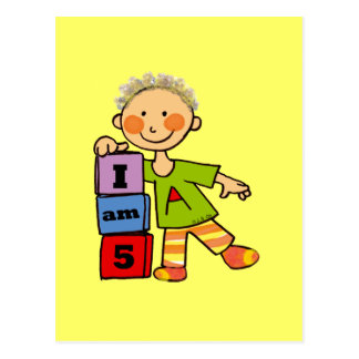 Ich bin 5 postkarte