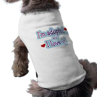 Ich bin adoptiertes Hundet-shirt Shirt