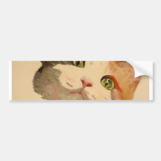 Ich bin alle Ohren: Kaliko-Katzen-Porträt Autoaufkleber
