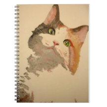 Ich bin alle Ohren: Kaliko-Katzen-Porträt Notiz Buch