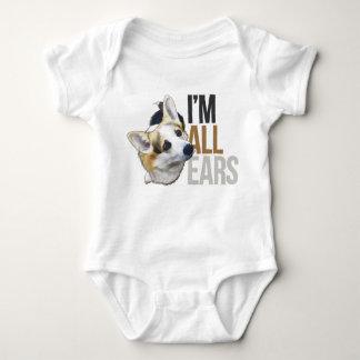 Ich bin alle Ohren - Tricolor WaliserCorgiPembroke Baby Strampler